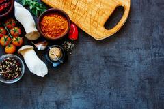 Cooking ingredients Stock Photos
