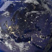 Earth citylight europa Stock Illustration