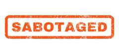Sabotaged Rubber Stamp Stock Illustration