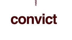 Convict animated word cloud. Stock Footage