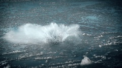 Exploding Water Impact Super Slow Motion Stock Footage