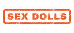 Sex Dolls Rubber Stamp Stock Illustration