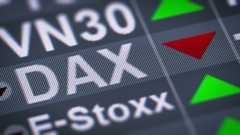 DAX. Down. Looping. Stock Footage