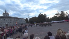 Military Brass Band of Ukraine Stock Footage