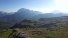The famous Italian National Park Tre Cime Di Lavaredo Stock Footage
