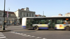 Old Railway Station Porta Susa In Turin Stock Footage