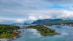 Bronnoysund, Beautiful Nature Norway timelapse Stock Footage