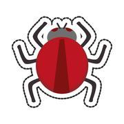 Isolated bug design Stock Illustration