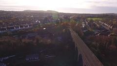 Aerial view of a Stourbridge suburb. Stock Footage