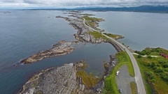Atlantic Ocean Road or the Atlantic Road (Atlanterhavsveien) been awarded the ti Stock Footage