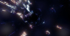 4K animated background loop with audio elements. 3D abstract digital wave. Stock Footage