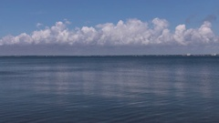 Calm Ocean and Cloud line Stock Footage