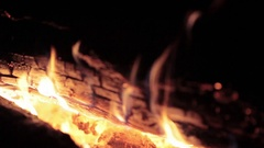 Bonfire. Fire. Flame. Sparkles in Night Stock Footage