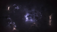 Storm clouds, glow Stock Footage