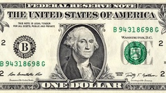 Banknote of one US dollar is replaced by $ 2 Stock Footage