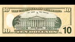 Banknote of ten US dollar is replaced by 10 euro Stock Footage