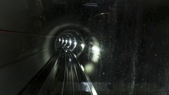 Subway tunnel  View from subway train cabine. Stock Footage