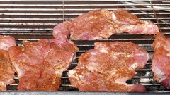 Grilled meat Stock Footage