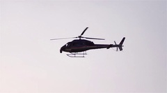 Helicopter flying at low height above the ground Stock Footage
