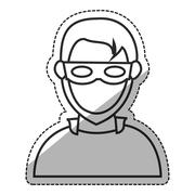 Isolated hacker design Stock Illustration