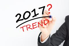 Which is the trend for 2017 question Stock Photos