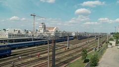 Belarus. Brest. July 15. 2015 the railway station. Taym laps. Stock Footage