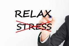 Reduce Job stress to relax at the office Stock Photos