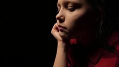 Sad teen girl thinking of something. 4K UHD Stock Footage