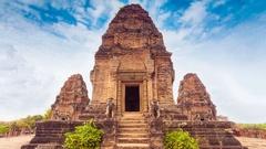 Ancient Angkor Wat, Cambodia Stock Footage