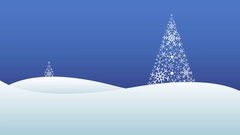 Winter landscape with snowfall and trees made of snowflakes Stock Footage