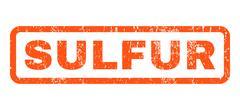 Sulfur Rubber Stamp Stock Illustration