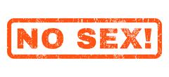 No Sex! Rubber Stamp Stock Illustration