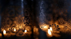 Festive glittering bokeh lights background. Stock Footage