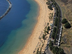 Teresitas beach timelapse 4k. Tenerife. Canary islands. Stock Footage
