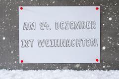 Label On Cement Wall, Snowflakes, Weihnachten Means Christmas Kuvituskuvat
