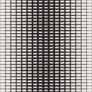 Rectangle Transition Halftone Grid. Vector Seamless Black and White Pattern. Stock Illustration