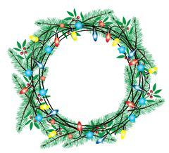 Wreath green Stock Illustration