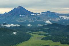 Khodutka Volcano. South Kamchatka Nature Park Stock Photos