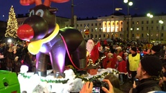 Parade of Santa Claus in Helsinki, Finland. Stock Footage