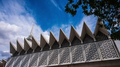 Time Lapse - The architecture of National Mosque of Malaysia, Kuala Lumpur. Stock Footage