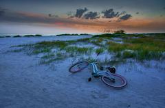 Sunset at the beach in Florida, USA. Stock Photos