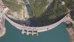 Aerial view of huge hydroelectric power plant in Montenegro Stock Footage