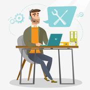 Technical support operator vector illustration Stock Illustration