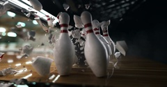 Bowling super strike Stock Footage