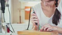 Handmade jewelry. Master class for creating jewelry Stock Footage