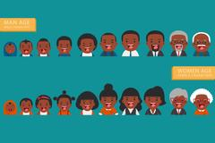 African american ethnic people generations. Stock Illustration