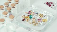 Handmade Jewelry. Workshop. Hobby Art Clay Modeling Stock Footage
