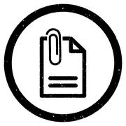Attach Document Rounded Grainy Icon Stock Illustration