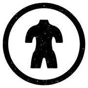 Body Rounded Grainy Icon Stock Illustration