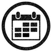 Calendar Rounded Grainy Icon Stock Illustration
